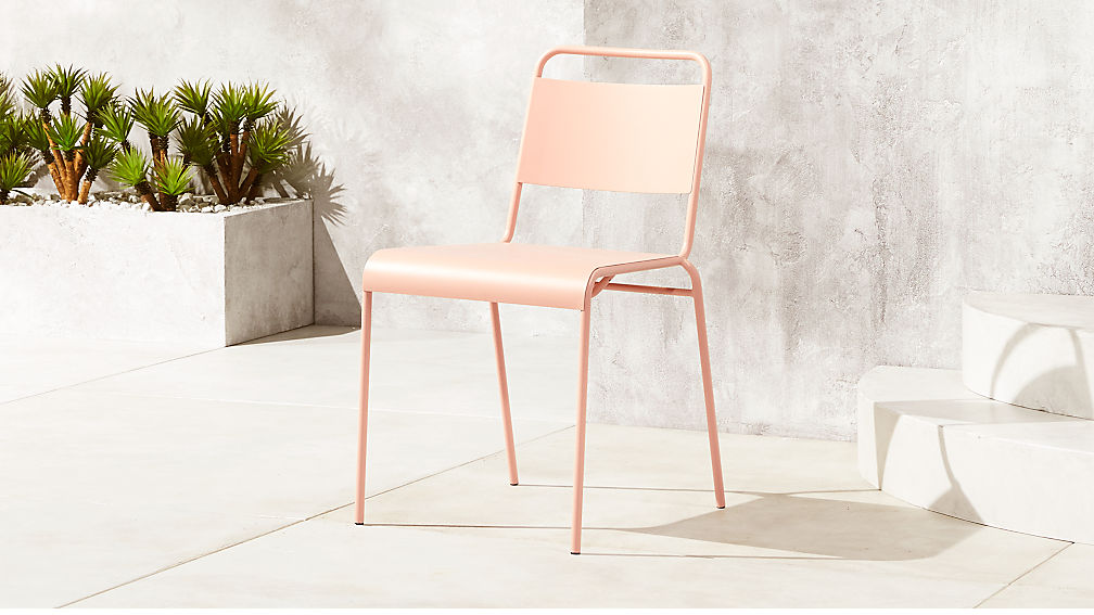 Lucinda Dusty Pink Outdoor Chair Reviews Cb2