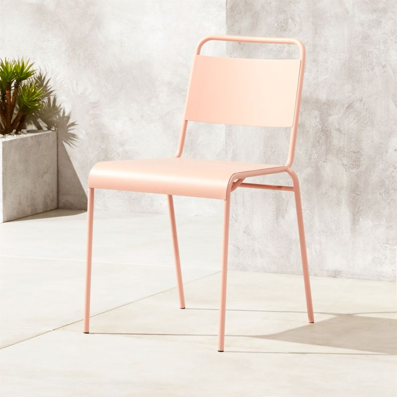 6 Cafe Stoelen.Lucinda Dusty Pink Outdoor Chair Reviews Cb2