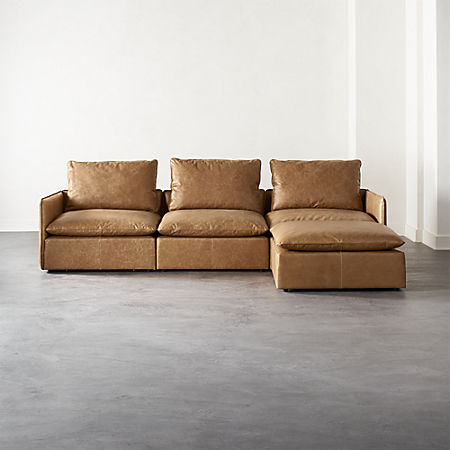 Lumin Leather 4 Piece Sectional Sofa