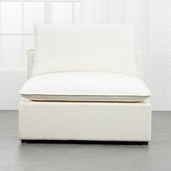 Lumin White Linen 4 Piece Sectional Sofa Reviews Cb2