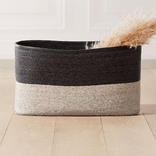 Luna Black and Natural Basket