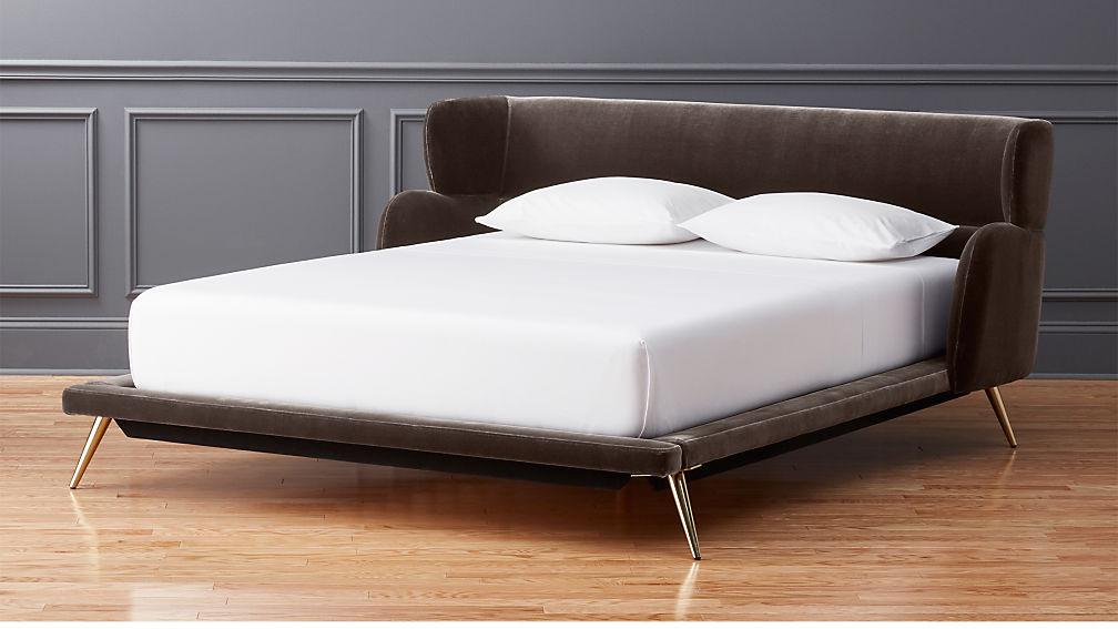 Lunar Velvet Bed Cb2