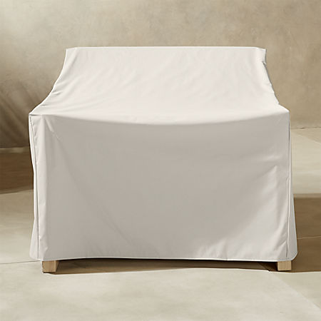Excellent Lunes White Waterproof Outdoor Lounge Chair Cover Cb2 Andrewgaddart Wooden Chair Designs For Living Room Andrewgaddartcom