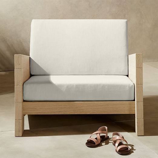 Lunes White Outdoor Lounge Chair