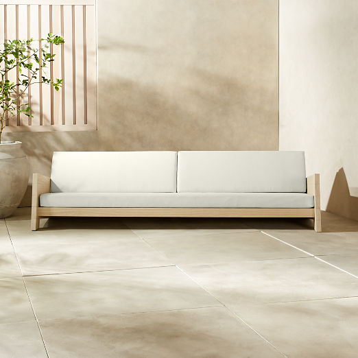 Lunes White Outdoor Sofa