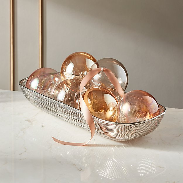 Luster Ornaments Set of 6 - Image 1 of 8