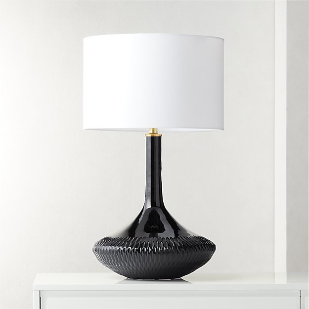 Luxor Black Glass Table Lamp - Image 1 of 7