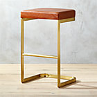 Mack Leather 24 Quot Counter Stool Reviews Cb2