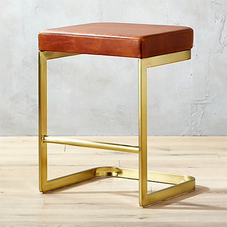 Fine Mack Leather 24 Counter Stool Pabps2019 Chair Design Images Pabps2019Com