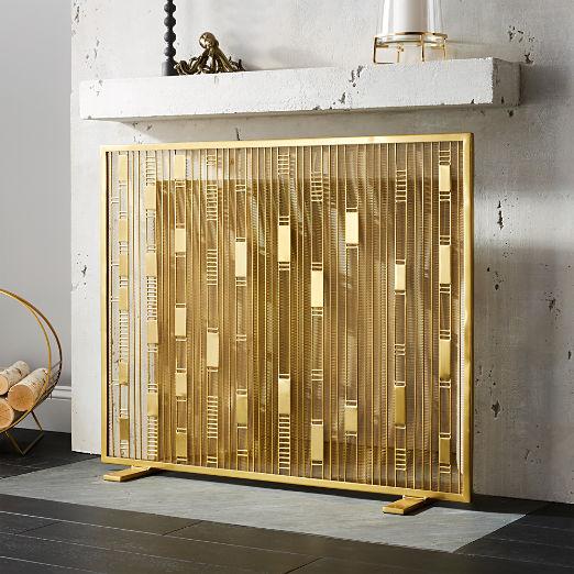 Maclyn Brass Fireplace Screen
