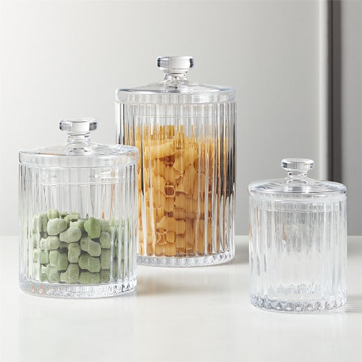 Madeline Clear Glass Canisters