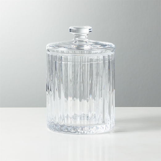 Madeline Small Clear Glass Canister