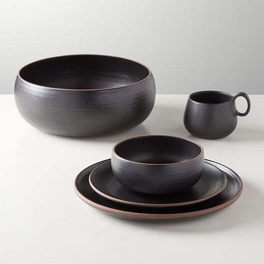 Madera Black Terracotta Dinnerware