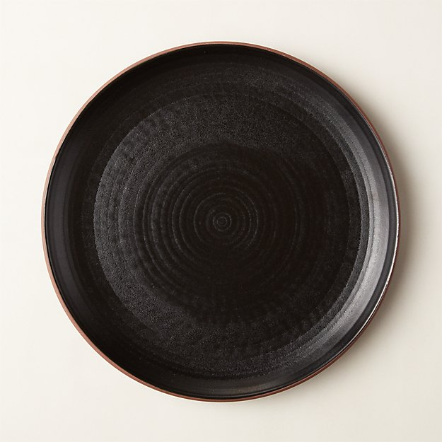 Madera Black Terracotta Dinner Plate - Image 1 of 4