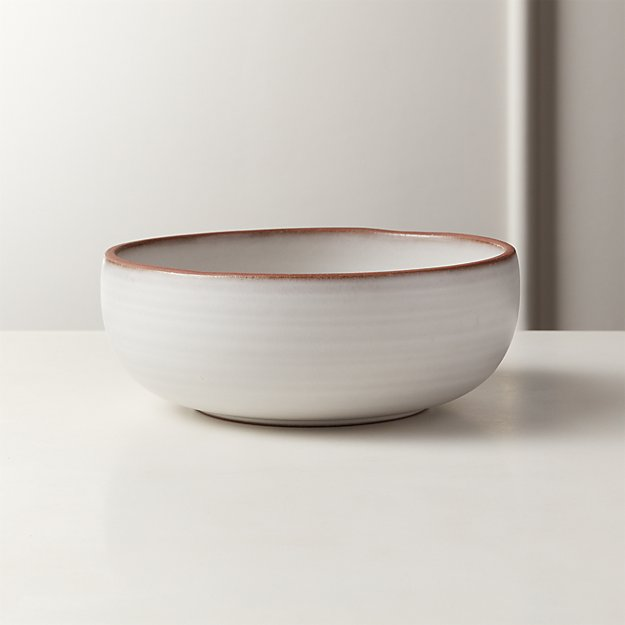 Madera White Terracotta Soup Bowl - Image 1 of 4