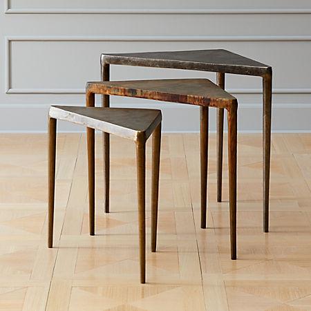 3 Piece Magma Metal Nesting Table Set