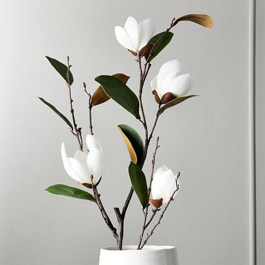 """Faux Magnolia Stem 46"""""""