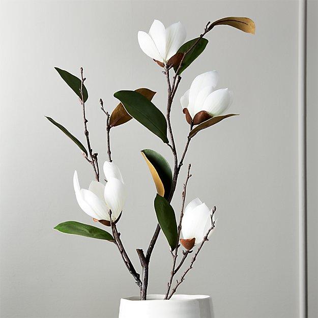 "Faux Magnolia Stem 46"" - Image 1 of 4"