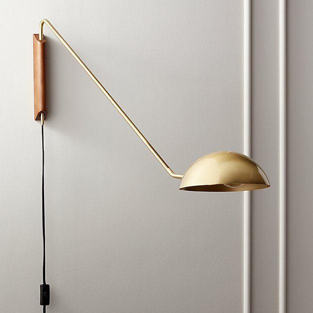 Mantis Swivel Wall Sconce Brass - Image 1 of 7