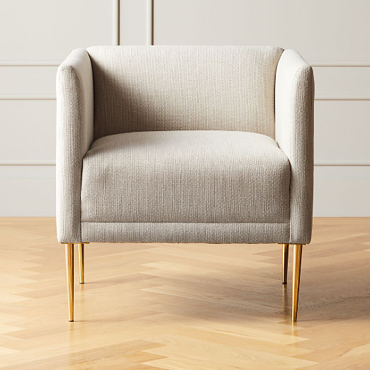 Marais Essence Sea Salt Chair with Brass Legs