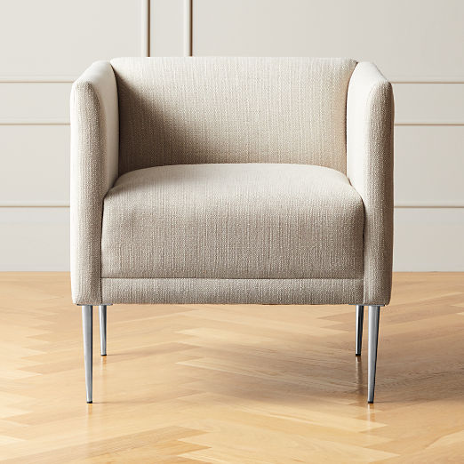 Marais Essence Sea Salt Chair with Chrome Legs