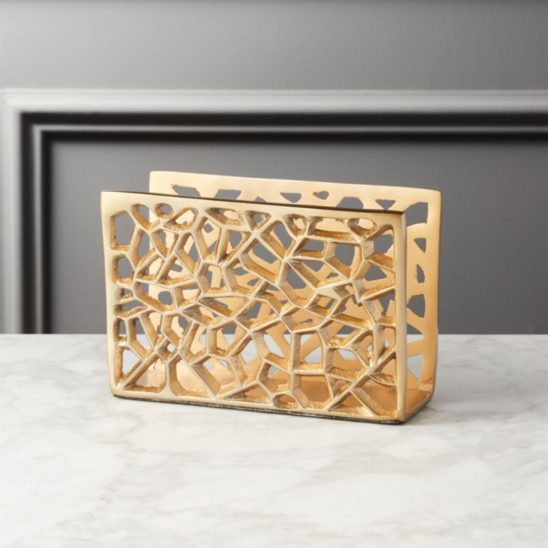 Marais Gold Letter Holder Reviews Cb2