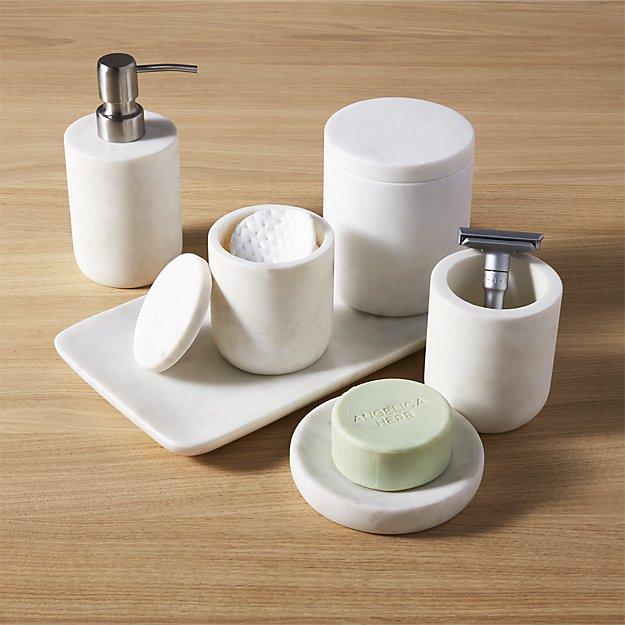 Bathroom Accessories.Marble Bath Accessories
