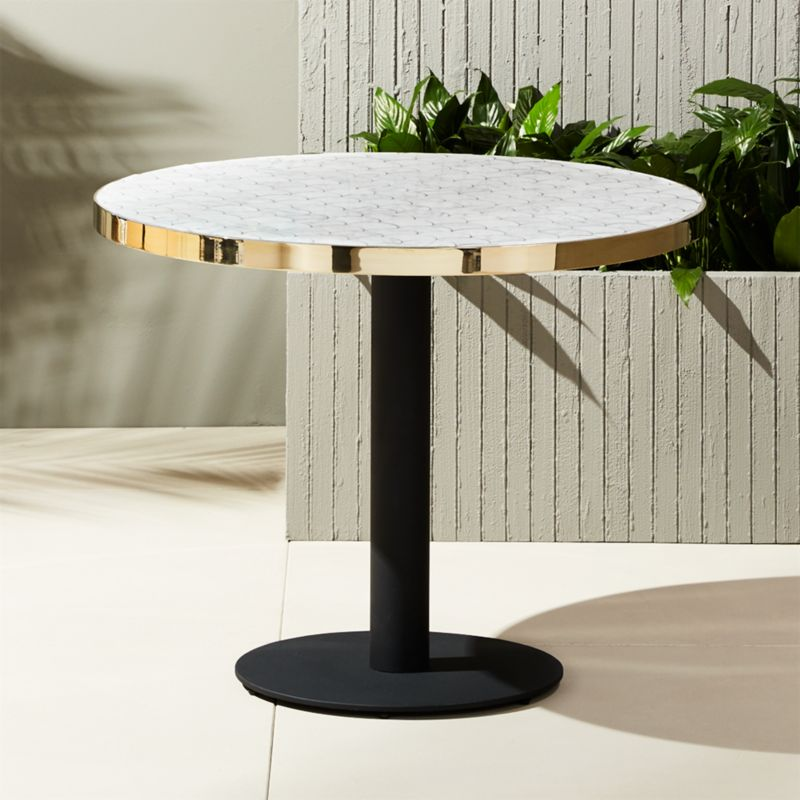 Delicieux Marble Outdoor Bistro Table