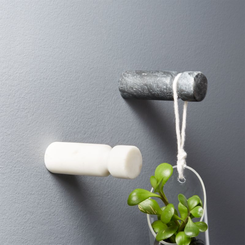 Currency Marble Wall Hooks by Crate&Barrel