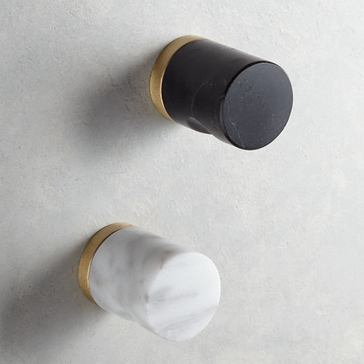 Marble Notched Cylinder Knobs