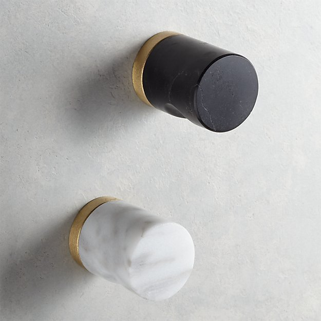 Marble Notched Cylinder Knobs - Image 1 of 4