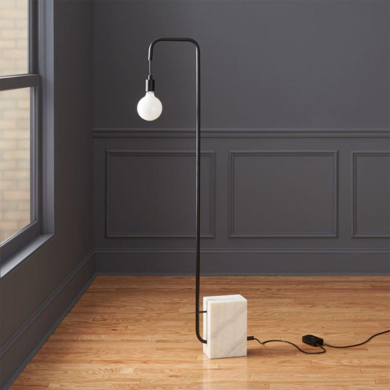 Modern black floor lamps cb2 aloadofball Choice Image