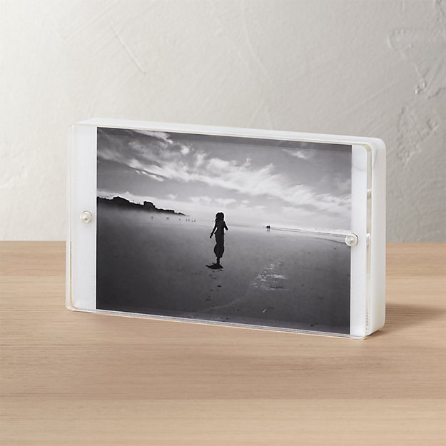 marble 4x6 picture frame + Reviews | CB2