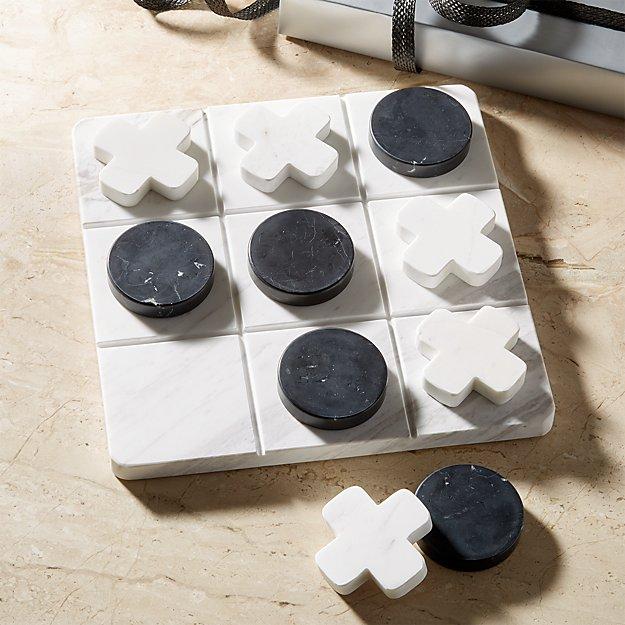 Marble Tic Tac Toe Set - Image 1 of 5