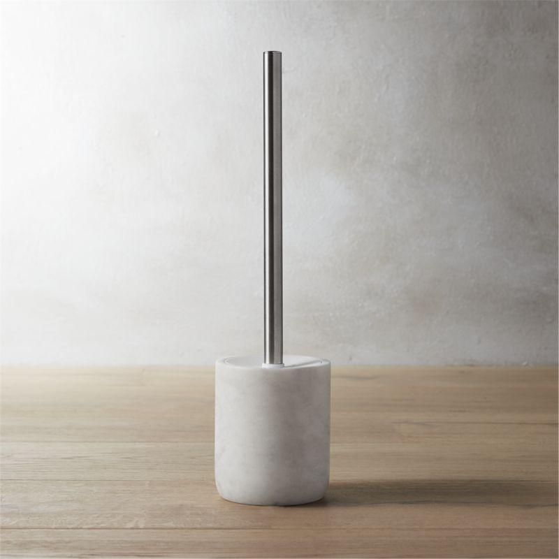 grey marble bathroom accessories. Marble Toilet Brush Marble Bathroom Accessories  CB2