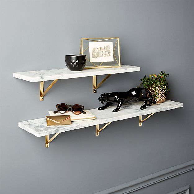 Marble Wall-Mounted Shelves - Image 1 of 12