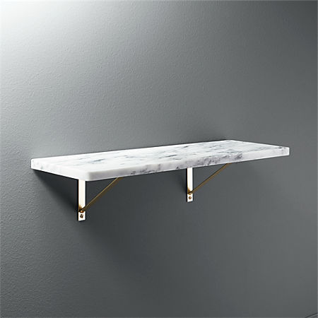 huge selection of f3043 0bcef Marble Wall-Mounted Shelf 24