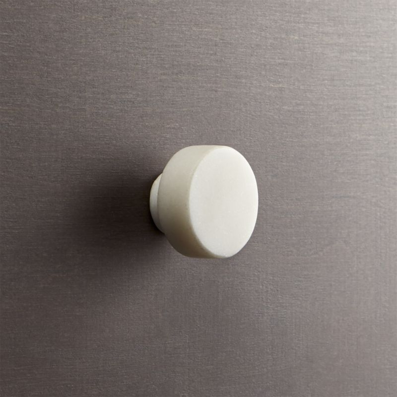 Bon Marble White Disk Drawer Pull