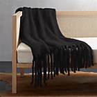 Marlee Black Fringe Throw