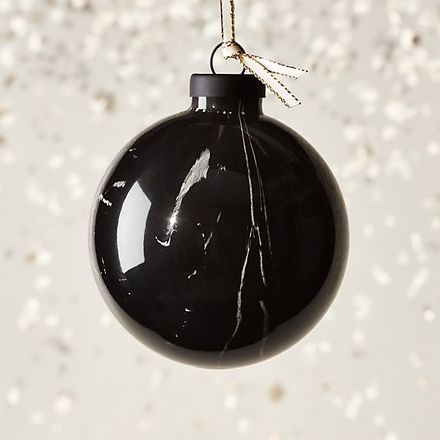 Marquina Glass Swirl Ornament - Image 1 of 6