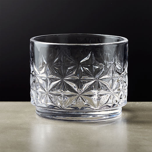 Mars Clear Stacking Double Old-Fashioned Glass