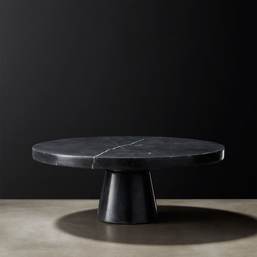 Marshall Black Marble Cake Stand