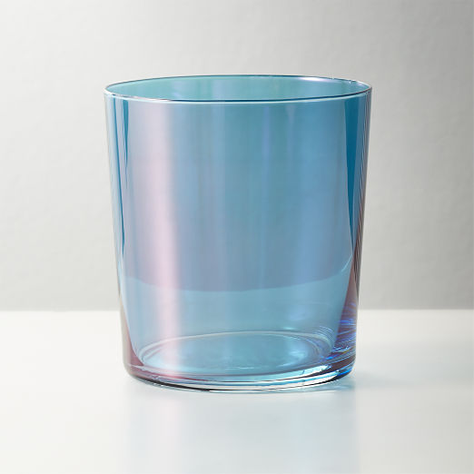Marta Deep Teal Luster Double Old-Fashioned Glass