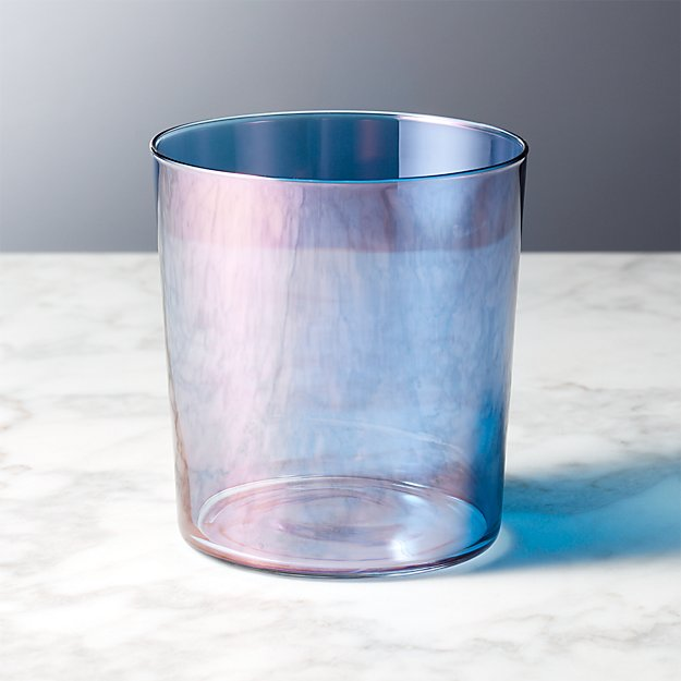 Marta Dusty Blue Luster Double-Old Fashioned Glass - Image 1 of 4