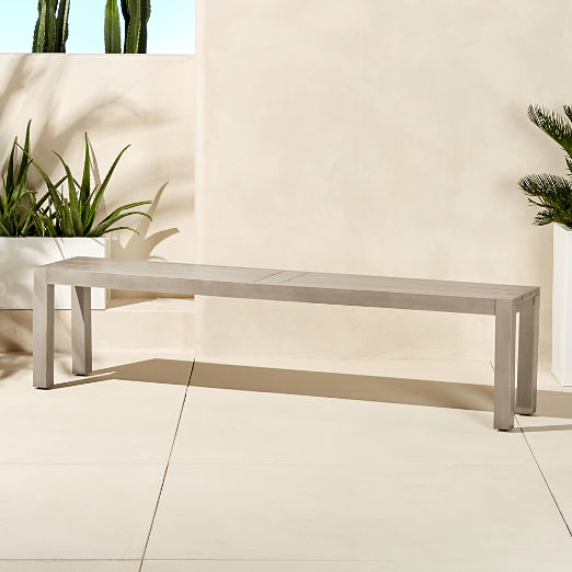 Matera Large Grey Dining Bench