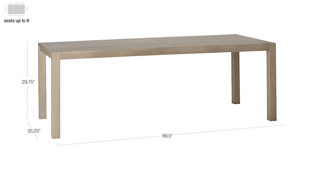 Matera Large Outdoor Grey Dining Table Reviews Cb2