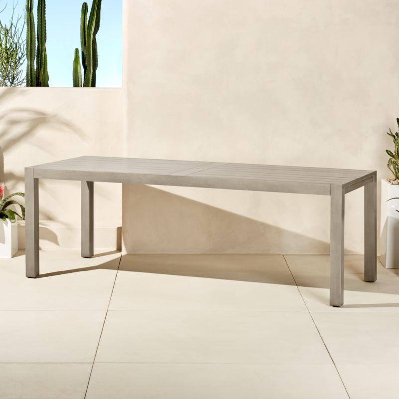 minimalist furniture. Matera Large Grey Outdoor Dining Table Minimalist Furniture