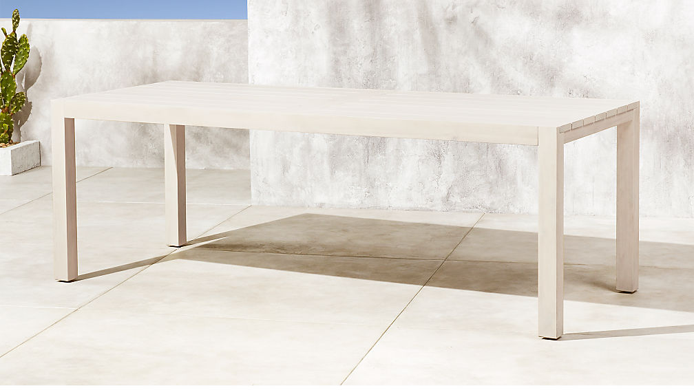Matera Large White Wood Dining Table Reviews CB - Cb2 expandable dining table