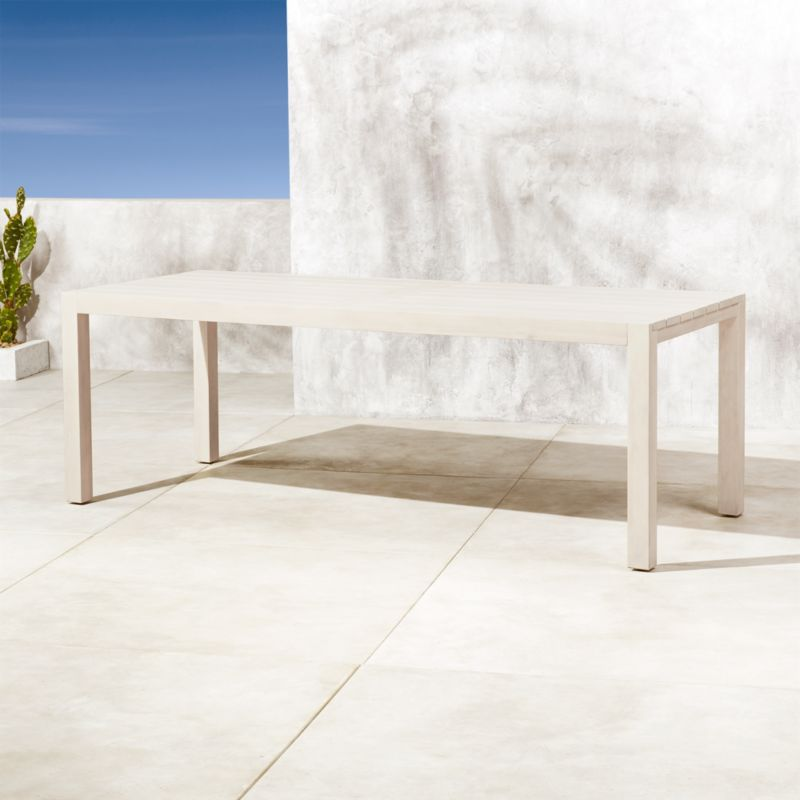 Matera Large White Wood Dining Table