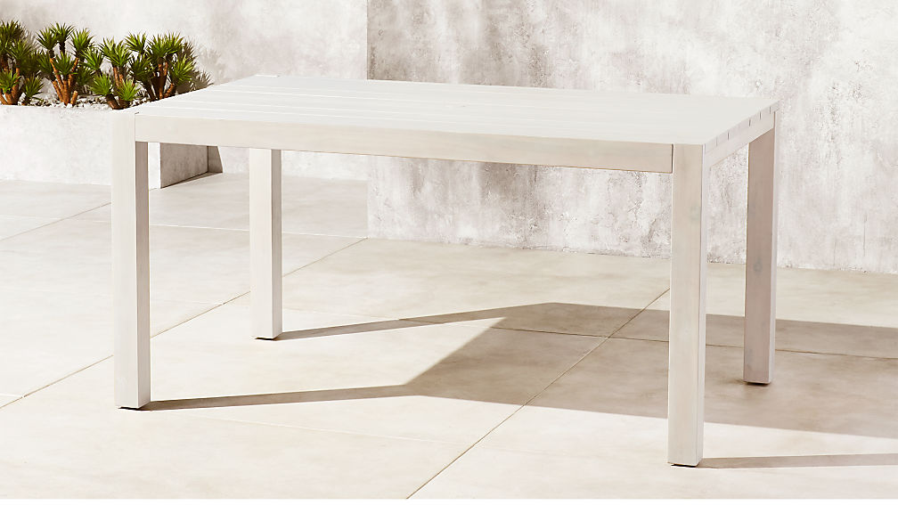 Matera White Washed Dining Table Reviews Cb2